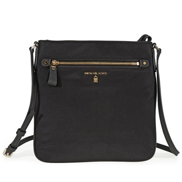 69a86641d305 Michael Kors Nylon Kelsey Large Crossbody Purse Bag Black for sale ...