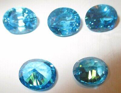 Facetten  oval Cubic Zirkonia synthetische Edelsteine 1 CZ 12x10 mm Türkis