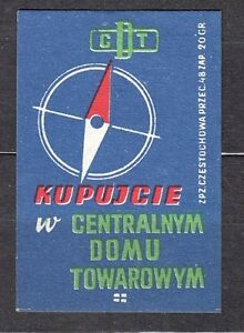 POLAND-1959-Matchbox-Label-Cat-Z-162-Buy-from-the-Central-Department-Store-CDT