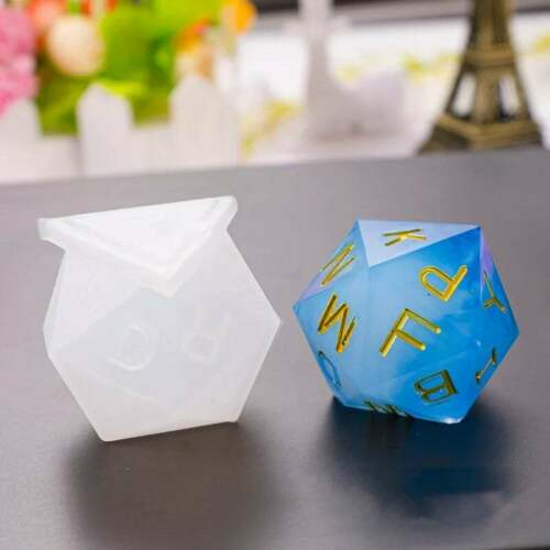Craft Ship from US New Shiny Dice Silicone Mold 9 Styles Resin UV Resin