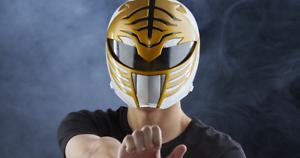 FULL SIZE Helmet Mighty Morphin Power Rangers Lightning White Ranger  WEARABLE!