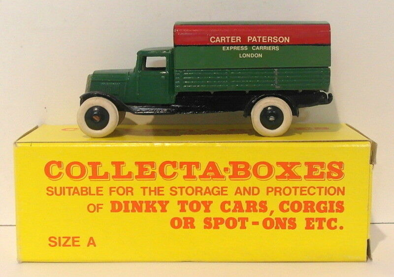 Vintage Dinky 25B - Coverojo Wagon Carter Paterson - verde In Collecta Box