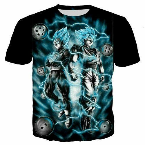 Girl Boys Kids Child T-Shirt 3D Print Short Sleeve Tee Top Goku Dragon Ball Z