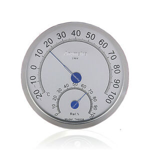 Stainless Steel Case Indoor Outdoor Thermometer Hygrometer  -20° C to 100° C
