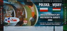 TICKET 29.3.2003 Polska Polen - Ungarn Hungary