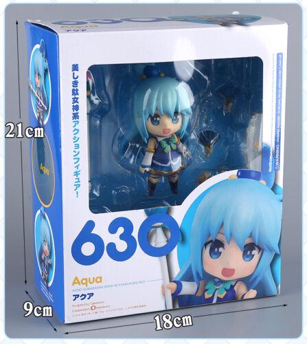 Anime Nendoroid 630 KonoSuba Aqua Cute Mini Action PVC Figure Toy New In Box