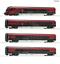 Roco-74084-HO-Gauge-OBB-Railjet-Coach-Set-w-Lights-4-VI miniature 1