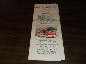 OCTOBER-1966-WMA-TRANSIT-ROUTE-A-J-L-PUBLIC-TIMETABLE