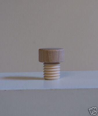 10 Stk Holz Griff Korken gerillt 19 mm Durchmesser
