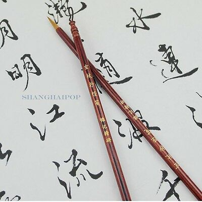 1 X Chinese Calligraphy Pen Brush for Traditional Writing Painting Art Wolf Hair