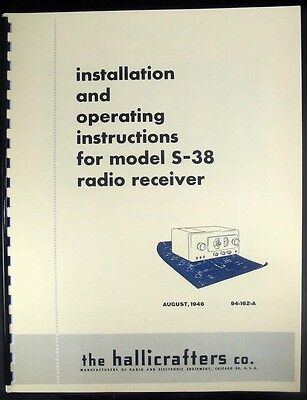Hallicrafters S-38 Operation /& Service Manuals With Added Color Chassis Photo
