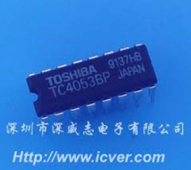 TOSHIBA TC4053BP DIP-16 SINGLE 8-CHANNEL