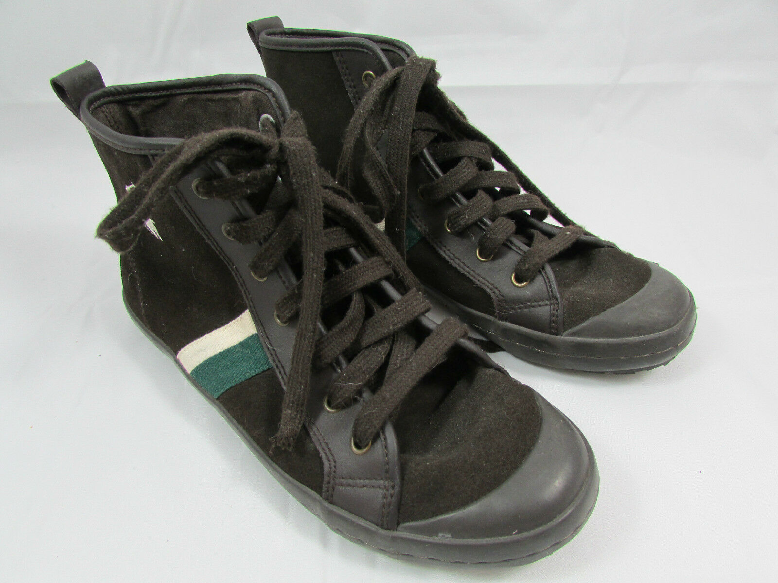 Men's Polo Ralph Lauren High Top Brown Canvas Casual Sneakers Shoes Size 6