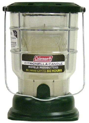 (6) COLEMAN 7708 CITRONELLA CANDLE LANTERN 50 HOURS BURN TIME REPELS MOSQUITOES