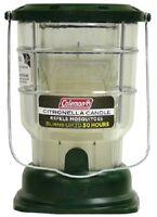 (3) Coleman 7708 Citronella Candle Lantern 50 Hours Burn Time - 161507