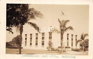 California-Ca-Postcard-Real-Photo-RPPC-1941-LOS-ANGELES-Montebello-Post-Office
