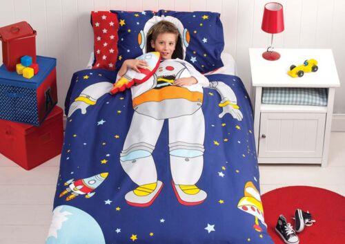 Spaceman Duvet Doona Quilt Cover SetReversible Spaceship CushionSingle