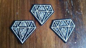 3 X Patch Diamant Avec Strass Gemme Application Bügelbild Set-afficher Le Titre D'origine Cool En éTé Et Chaud En Hiver