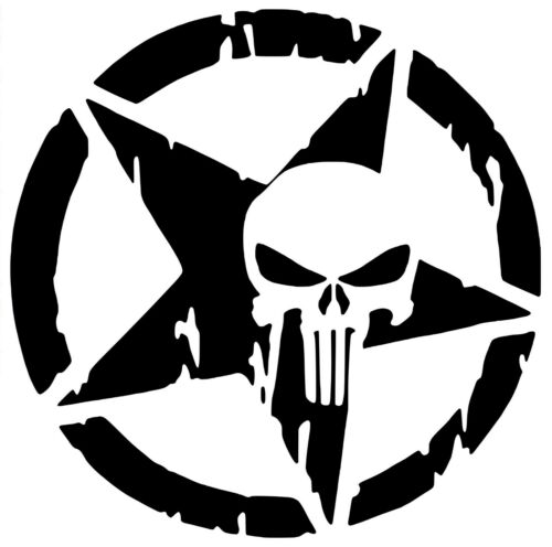 The Punisher Skull Vinyl Decal 12 Colours 4 Sizes Car Bike Wall Window Sticker