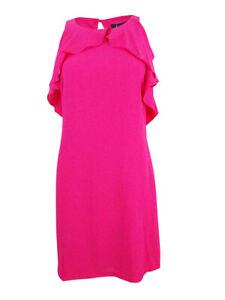 Jessica-Simpson-Women-039-s-Ruffled-Shift-Dress