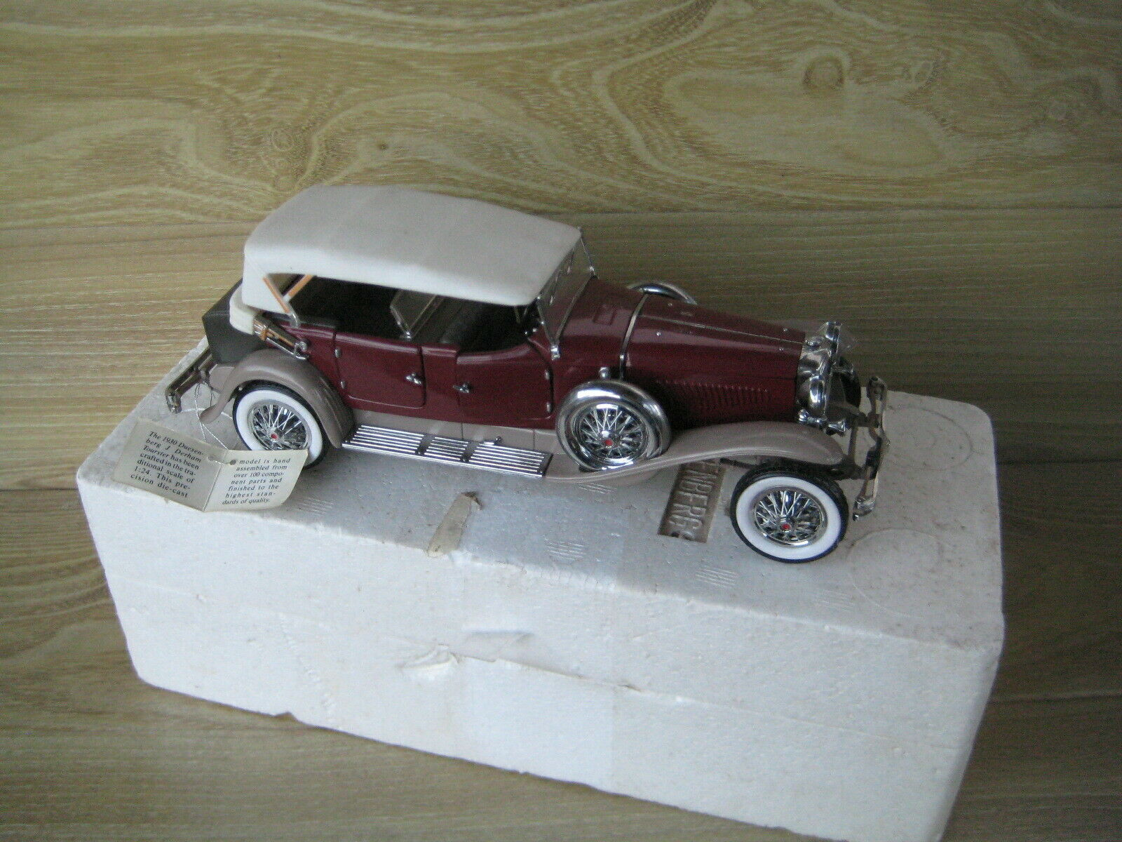 FRANKLIN MINT 1 24 1930 DUESENBERG J Derham Tourster   Near Mint   FREE POSTING