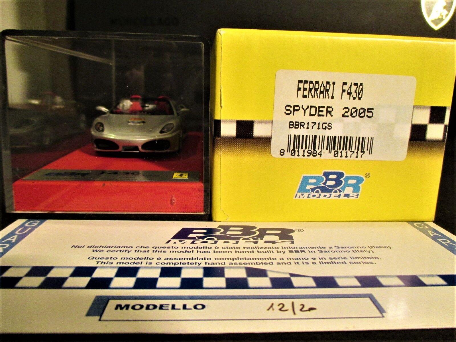 FERRARI F430 SPYDER 2005 60th RELAY PREMIUM gris BBR 1 43  BBR171GS N°12 20