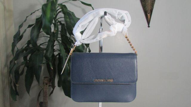 ac55da4ba23f Michael Kors MK Bedford Leather Crossbody Messenger Handbag Bag ...
