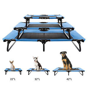 S-M-L-Size-Elevated-Pet-Bed-Dog-Cooling-Lounger-Folding-W-Breathable-Mesh-Mat
