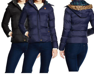 Size 8 10 12 14 16 Womens QUILTED Ladies JACKET COAT PADDED QUILTED Navy Black