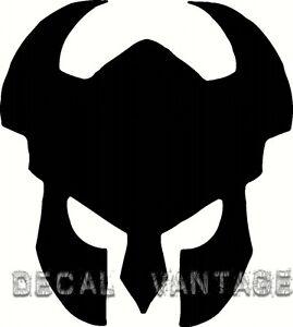 Warrior-Helmet-Vinyl-Sticker-Decal-Viking-Knight-Medievil-Choose-Size-amp-Color