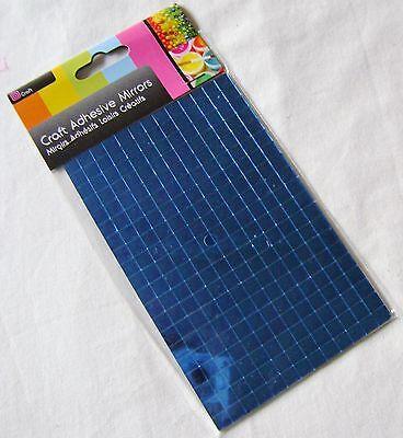 selbstklebende Glasspiegel Quadrate Fliesen Mosaikkunst Handwerk blau