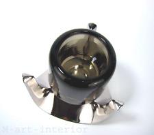Fritz NAGEL Kerzenhalter Chrom Topas-Glas Candle Holder Chrome Glass Germany 70s