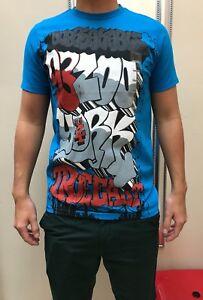 Zoo-York-Men-039-s-Short-Sleeve-Aqua-Blue-Graphic-T-Shirt