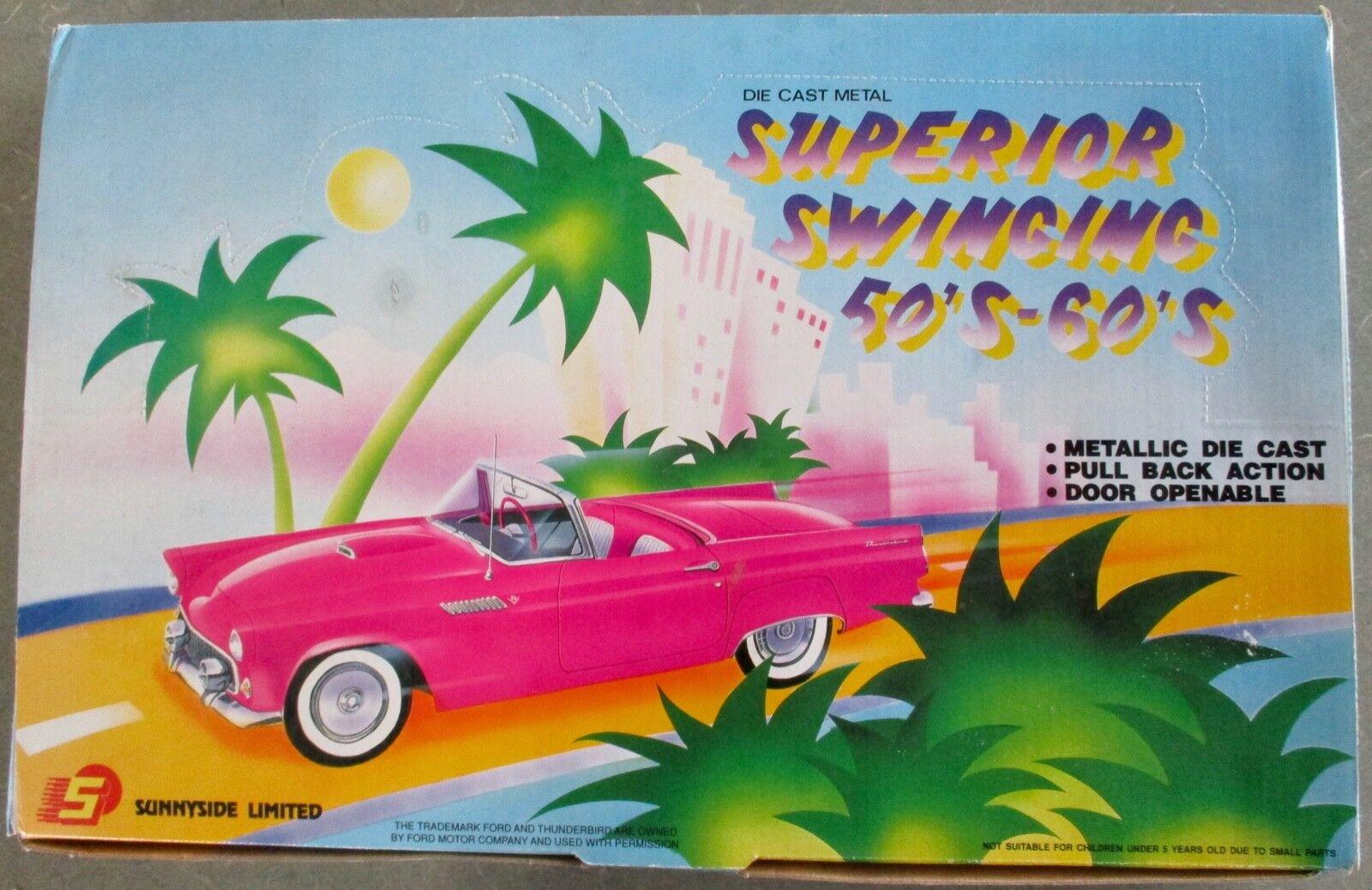 Sunnyside Ltd 12 Superior Swinging 50's-60's die cast metal cars