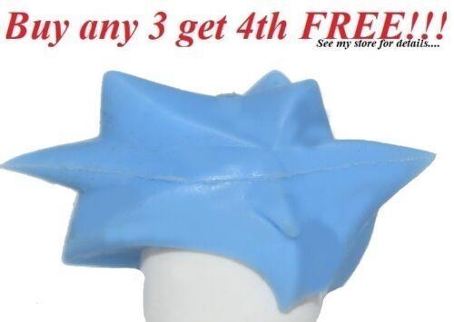 ☀️NEW Lego Minifig Hair Male Medium Blue Angular Swept Back Spiked Hair