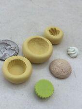 3 PC Cupcake Mold Flexible Silicone Decoden Resin Chocolate Polymer Clay Kawaii