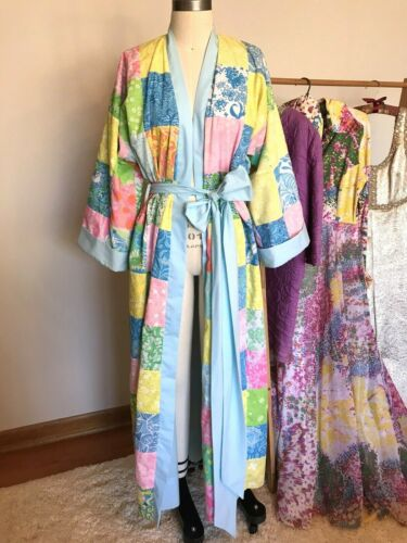 Vintage The Lilly Pulitzer 60's Patchwork Robe Ful