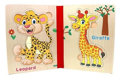 Baby Toy Book Puzzle For Toddlers Educational Learning Toys Forest Animals Ebay