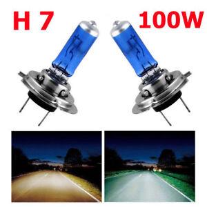 2x-H7-100W-Bombilla-Xenon-para-Luz-Faro-Delantero-Coche-Super-Blanco-8500K-12V