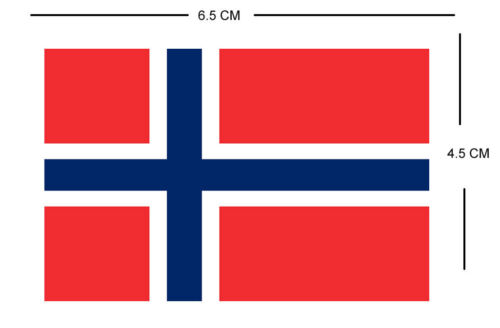 Norway FLAG Iron on Screen Print for fabric Machine Washable Transfer cross