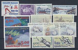 Gronland-Jahrgang-1994-postfrisch-in-den-Hauptnummern-kompl