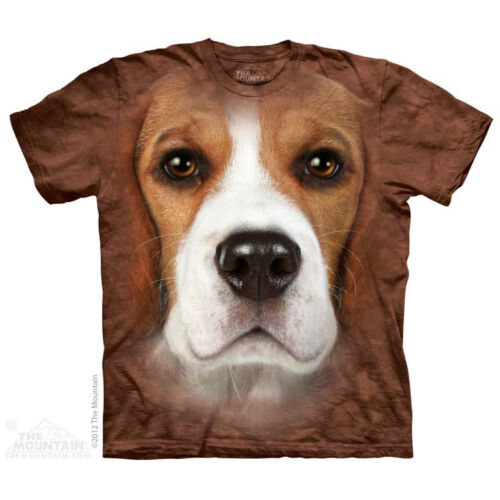 THE MOUNTAIN BEAGLE FACE DOGS PETS ZOO ANIMALS NATURE MAJESTIC TEE SHIRT S-5XL