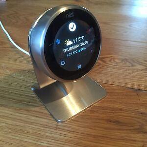 brushed 3mm stainless steel 2 3rd gen nest thermostat. Black Bedroom Furniture Sets. Home Design Ideas
