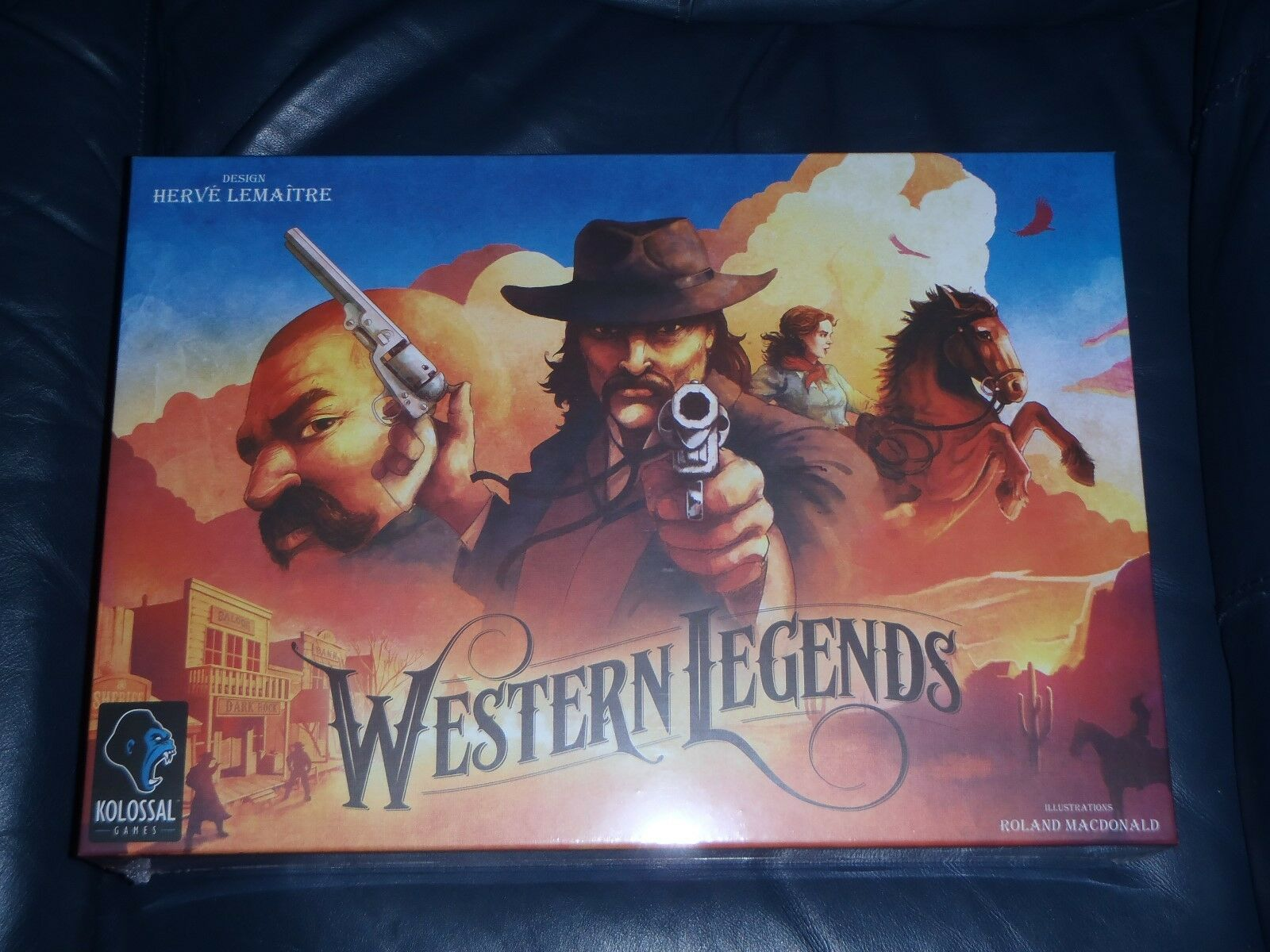 Kolossal WESTERN LEGENDS Board Game    NEW + SEALED