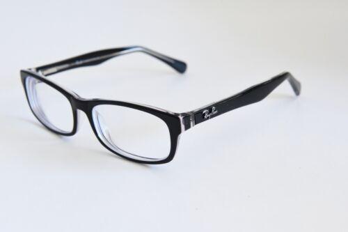 c1bfa780e0 RAY-BAN RB5114 2005 Full Rim Eyeglass Frames Black Crystal 53-15-140 ...