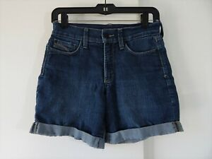 womens-blue-NYDJ-NOT-YOUR-DAUGHTERS-JEANS-shorts-jean-denim-cuffed-XS-0