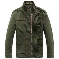 Jeep Rich Men Outdoor Autumn Cotton Blend Zipper Warm Coat Jacket Outwear