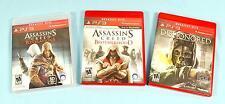 PS3 PlayStation 3 Video Games Dishonored, Assassin's Creed Brotherhood, Revelati