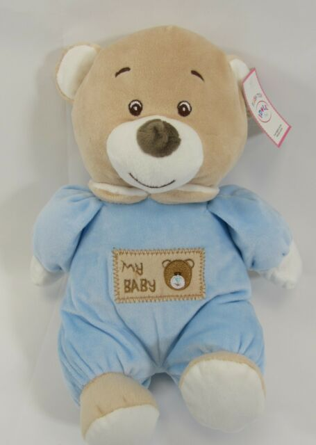 """Baby Toy My First Bear Boys Girls Musical Bell Soft Plush 0 Cuddly Pink Blue 9/"""""""