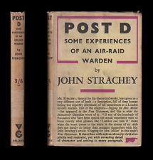 1941 Strachey POST D EXPERIENCES OF AN AIR RAID WARDEN Incendiaries LONDON BLITZ